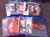 All Blu-ray's in new conditions. No scratches or