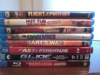 I have 8 blu ray movies. Trying to sell all of them
