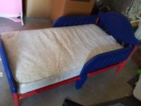 Boys toddler bed with matress. Both in excellent