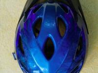 Blue Bicycle Helmet - Bell. Great condition with Visor.