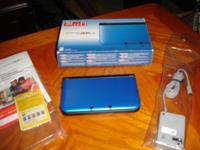 Like new. Blue & Black Nintendo 3DS XL Bought new in