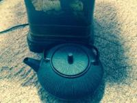 I have a beautiful blue cast iron teapot for sale. I