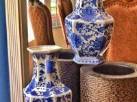 I have 2 blue Chinese vases for $20 a piece.
