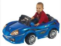 Blue Ride on Car 1 seater. Brand new with 6volt battery