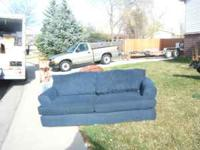 7 foot blue couch very good condition!! no rips,tears