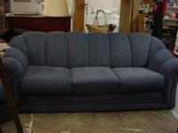Extremely good large sofa with navy blue upholstery, in