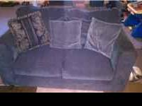 FOR SALE MATCHING SOFA AND LOVESEAT WITH THROW PILLOWS.