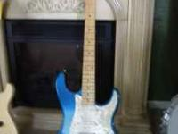 heres one just for you blue eletric guitar no scratches