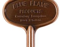The Blue Flame 3 in. Universal key fits up to 2 size