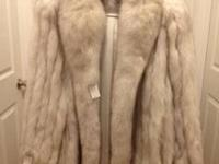 New with Tags, Size 12, Beautiful and soft Blue Fox Fur