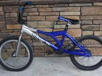 I have a beautiful blue Haro BMX racing bike for sale.