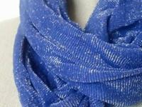 Blue Infinity Scarf. Lightweight. 100% Polyester. It