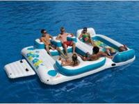 This Blue Lagoon inflatable float is packed full of