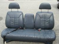 GM Orange Bench Seat w/ Center-Console Front-Seat