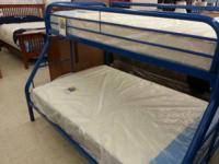 Very Nice New In Box White Or Blue Bunkbed Twin Over