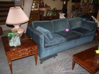 Blue Retro Couch with Hide-a-bed $75 on sale this week