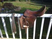 "17"" Blue Ribbon all around english riding saddle. Its"