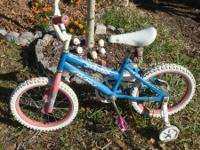 Little Girl's Bike 16 inch wheels, white tires Coaster