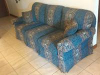 Blue pattern sofa couch for sale, light weight for easy