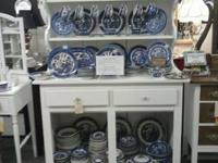We have lots and whole lots of Blue Willow, plates,