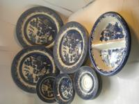 Blue Willow Dishes by Churchill made in England. 1