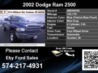 Call Eby Ford Sales at  Stock #: 2M268542 Year: 2002