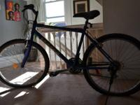 Bicycle - $65 - It's a blue unisex, mountain bicycle.