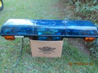 ALL BLUE STREET HAWK LIGHT BAR W/ MULTI COLOR FLASHERS