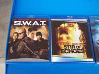 Blueray DVDs, like new! 8.00 each. Titles are: