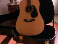 This is a beautiful blueridge guitar with a hard guitar