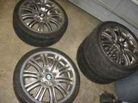 "18"" BMW M3 wheels and tires, will fit 3 & 5 series if"