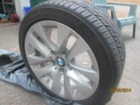 2011 BMW 328i wheels & tires. The tires have