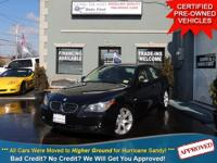 TAKE A LOOK AT THIS JET BLACK 2007 BMW 550i WITH ONLY