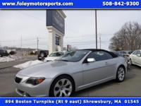 2007 BMW 650i Convertible finished in TITANIUM Silver