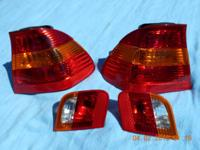 BMW-E46-Inner sedan tail light set. OEM Fender Tail