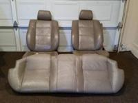 Set of 3 good quality tan leather seats for an e32 7
