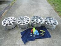 Set of 4 BMW M3 wheels Fronts are 19x8.5 Rears are