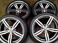 m6 style rims and tires, 1600 obo,,,sam 918_851_773 six