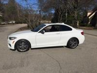 2015 BMW, M235, Alpine White, Black Dakota Leather,