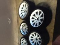 5 Original BMW Rims with Michelin Tires Like new