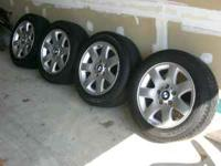 "4 16"" 7-star BMW rims on new Goodyear P205/55R16 tires."