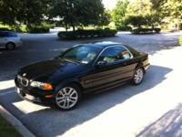 For sale 2001 BMW 330ci convertible with hardtop. It is