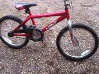 I am selling my 20 inch BMX bike. It has coaster brakes