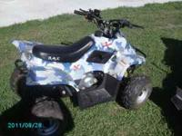 I have a childs 70cc 4 wheeler , it is in mint