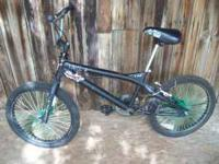 BMX Black 20 in. Bike. Good tires and wheels, good rear