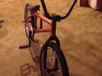 bmx bike, nothing is stock on the bike everything is