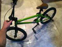 This is a very nice BMX bike that has been used