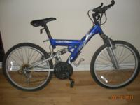 NICE MOUNTAIN BIKE BOUGHT IT NEW HARDLY USED BUT HAS a