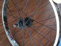 TWO 20 INCH RIMS WITH WETHEPEOPLE FRONT HUB AND STOLEN