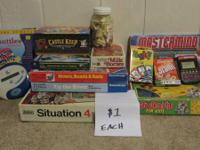 Family games, euro video games, designer games, card